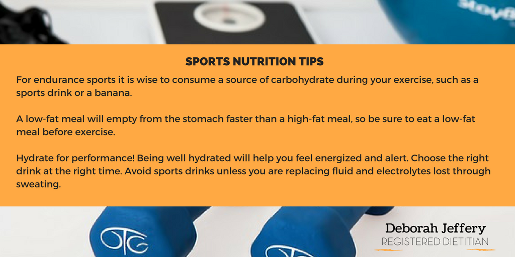 Sports nutrition-tip